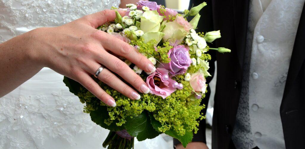 Bead Set Diamond Wedding Ring